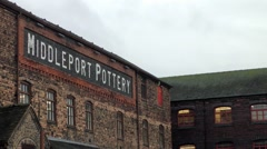 Middleport Pottery Burslem old industrial building Stock Footage