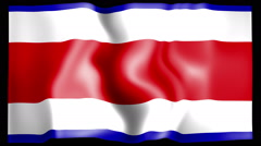 Flag of Costarica Stock Footage