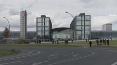 Berlin Central Train Station in Berlin, Germany. Stock Footage