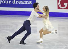 Gabriella Papadakis and Guillaume Cizeron from France Stock Photos