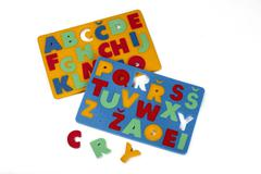 Foam rubber toys - alphabets - stock photo