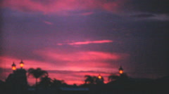 Beautiful Pink And Purple Sunset In Florida-1969 Vintage 8mm film Stock Footage