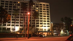 A generic high rise hotel at night. Stock Footage
