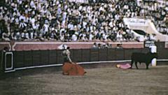 Spain 1963: final fight during corrida de toros Stock Footage