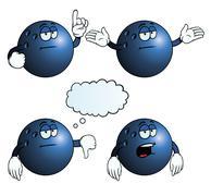 Stock Illustration of Bored bowling ball set