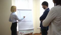 Successful business team - schedule report about increasing profits Stock Footage