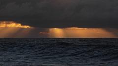 A storm surge precedes a big Hawaiian storm. Stock Footage