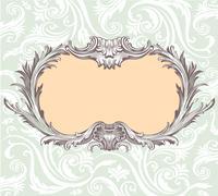 Vintage decorative vector frame Stock Illustration