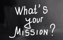 Stock Photo of what's your mission?
