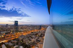 Tel Aviv at Sunset - stock photo