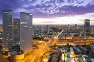 Stock Photo of Tel Aviv Skyline at Sunset
