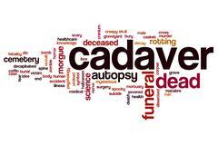 Cadaver word cloud Stock Illustration