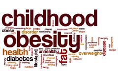 Childhood obesity word cloud Stock Illustration