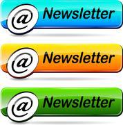 Newsletter push buttons Stock Illustration
