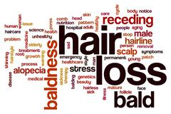 Hair loss word cloud Stock Illustration