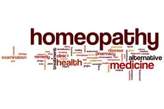 Homeopathy word cloud - stock illustration
