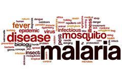 Malaria word cloud Stock Illustration