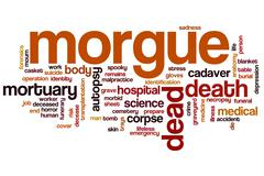 Morgue word cloud - stock illustration