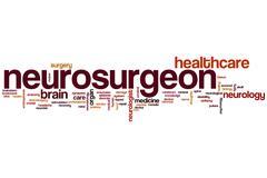 Neurosurgeon word cloud Stock Illustration