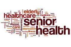 Senior health word cloud Stock Illustration