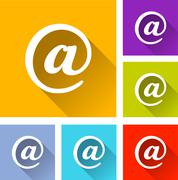 Stock Illustration of email icons