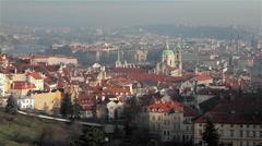 ST. NICHOLAS CHURCH & VLTAVA RIVER, PRAGUE, CZECH REPUBLIC Stock Footage