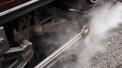 Steam Train Wheels Stock Footage