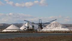 Salt Mine Industry, Salt Production Stock Footage