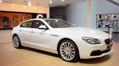 BMW 6 Series Gran Coupe luxury sedan - stock footage