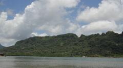 Coastal Jungle Landscape on the Island of Pohnpei Stock Footage