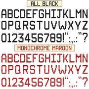 Stock Illustration of Stripe Font