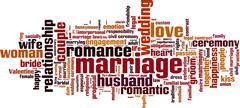 Marriage word cloud - stock illustration