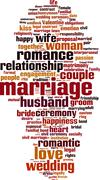 Marriage word cloud Stock Illustration