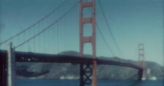 Golden Gate Bridge 60s Vintage Cars Stock Footage