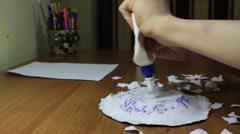 Papier-mache Stock Footage