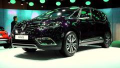Renault Espace V MPV Stock Footage