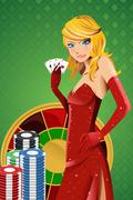 Poker woman Piirros