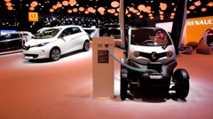 Renault Twizzy and ZOE electric cars Stock Footage