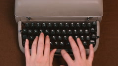Woman's hands typing on vintage typewriter Stock Footage