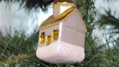 Christmas toy house Stock Footage