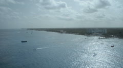 Caribbean Coast line from up high Stock Footage