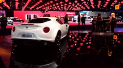 Alfa Romeo 4C coupe sports car Stock Footage