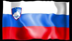 Flag of Slovenia Stock Footage