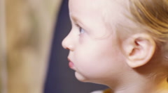 Child watches TV Stock Footage