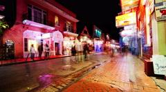 Bourbon Street Wide-Shot Stock Footage