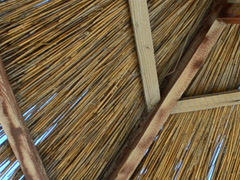 Roof of a straw umbrella. Related clips are in my portfolio in 1920x1080. Stock Footage