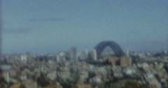 Sydney Harbour Bridge 60s Vintage 2 Stock Footage