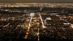 Glendale and Los Angeles Dusk to Night with Zoom In Stock Footage