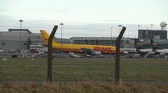 DHL Delivery Plane Stock Footage