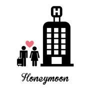 Honeymoon design, vector illustration eps10 graphic Stock Illustration